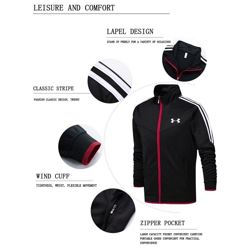 2019 Under Armour hommes veste d'entraînement veste + pantalon survetement homme formation course ensembles sport costumes 2 pièces de haute qualité - 4