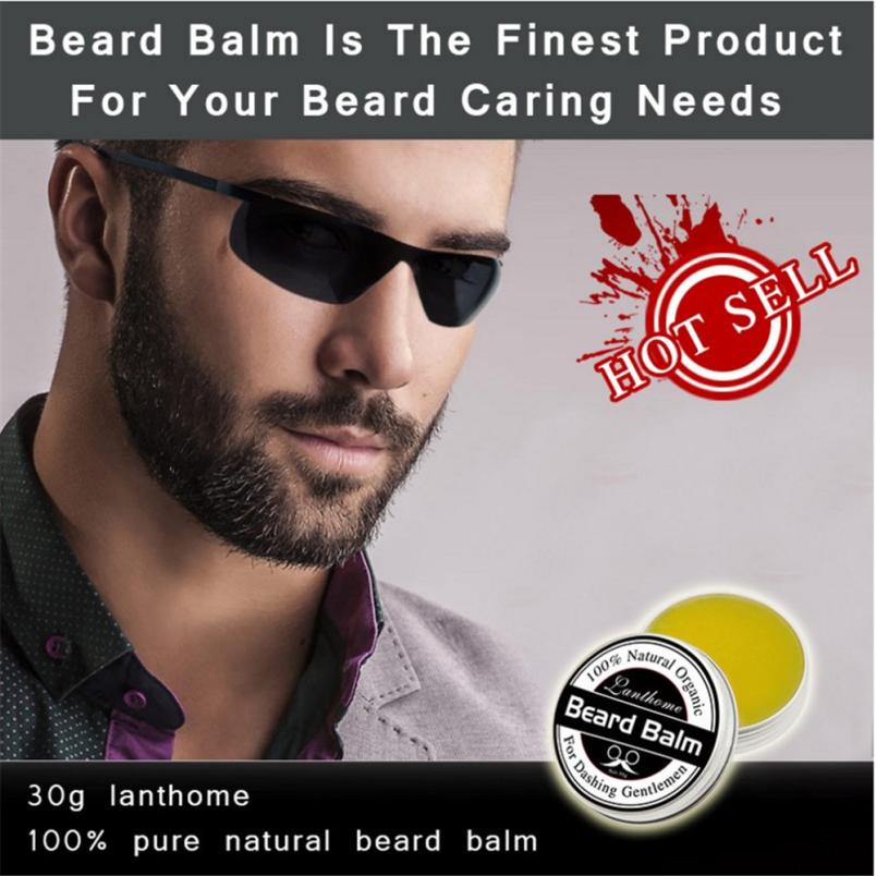Men's Beard Care Cream Men Beard Balm Leave Moisturizing Care Cream Beard Care Lubricating Cream 30g drop shipping aftershave 1