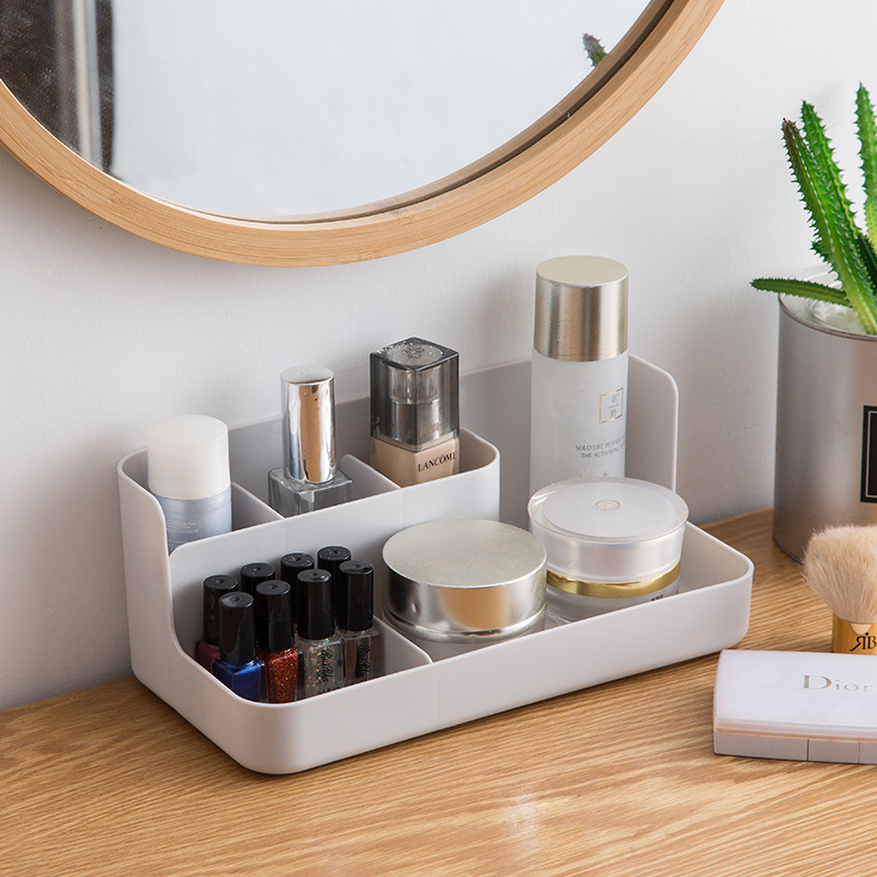 Makeup Organizer with Compartments Suitable for Bathroom Bedroom and Office Desk to Store Jewelry and Cosmetics
