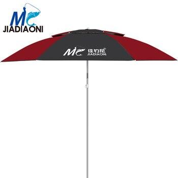 JIADIAONI 2m/2.2m/2.4m Black Rubber Cloth Outdoor Adjustable Ultraviolet-proof Sun Umbrella Large Fishing Umbrella Accessories фото