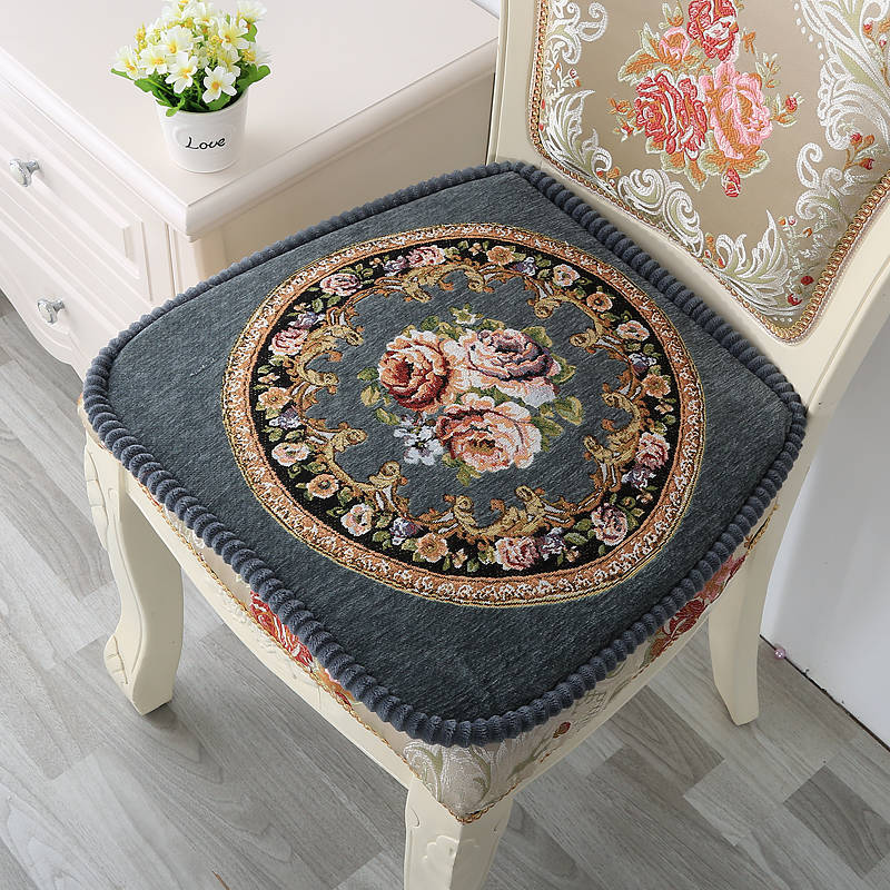 Floral Dining Chair Cushion For Kitchen Decor Anti-skid Home Seat Pad European Almofada For Chair Decorative Cushion Pillow Mat