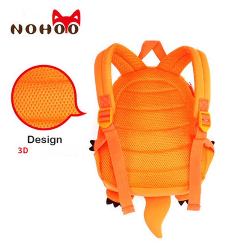 8c2a70dfb555 ... NOHOO Dragon 3D Animals Children School Bags Waterproof Cartoon Kids  Backpack School Kids Baby Bags Mochila ...