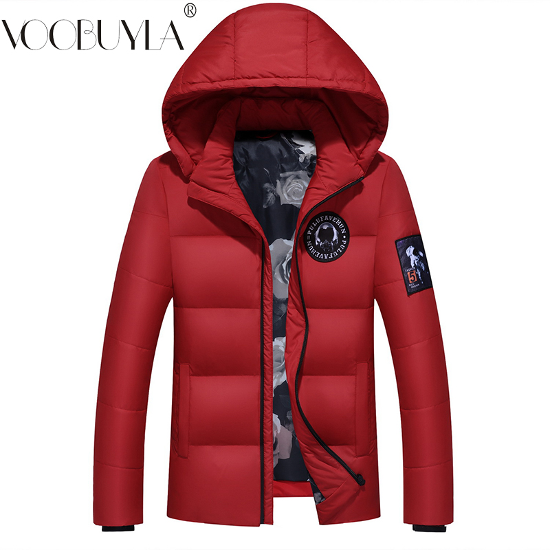Voobuyla White Duck   Down   Jacket Men 2018 Winter Plus Size M-3XL Thick warm Parkas Male Hooded Slim   Down     Coats   Jaqueta Masculina
