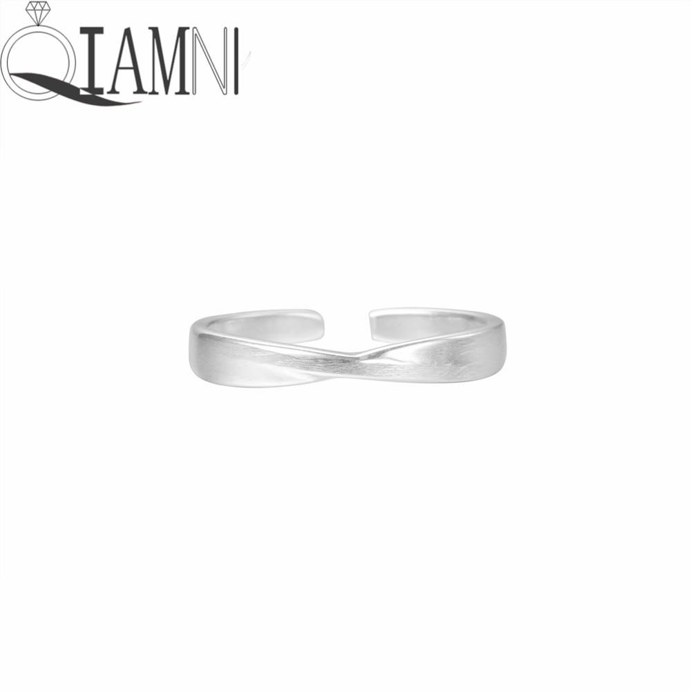 QIAMNI Minimalist Jewelry Lucky Cross Infinity Open Finger Ring for Women Girls Female Wedding Party Christmas Gift Adjustable