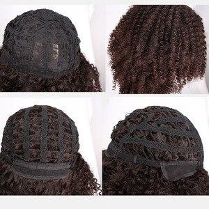 Image 5 - Peluca de pelo corto Afro de 14 pulgadas para mujer, pelo negro Natural Africano Americano, marrón, rizado, 10 colores