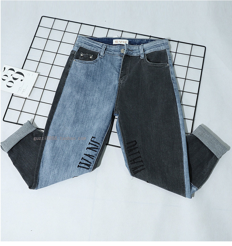 As Length Jeans Hit New Women Colrt Photo Harem Pants Ankle Letters Loose 2019 Spring Fashion wwqSrxOvT
