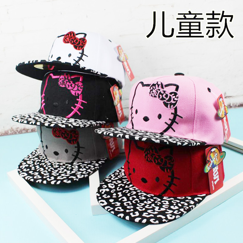 2016 Korean Cartoon KT CAT Children Hip Hop Baseball Cap Summer Sun Hat Boys Girls mesh snapback Caps charmdemon 2016 embroidery cotton baseball cap boys girls snapback hip hop flat hat jy27