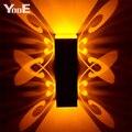 Крытый СВЕТОДИОДНЫЕ Лампы На Стенах 2 Вт Бабочка Проекции Алюминиевый Бра AC110-220V Украсить Настенные Светильники Бесплатная Доставка