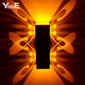 Indoor LED Wall Lamp 2W Butterfly Projection Aluminum  Sconce  AC110-220V   Decorate Wall Lighting Free Shipping