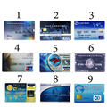 Cartão do banco HSBC Mastercard Cartões De Crédito USB Memory Stick USB Flash unidade 64 GB PenDrive 4 GB 8 GB 16 GB 32 GB Pen Drive Capacidade Real