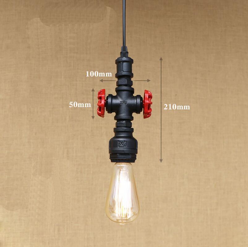 Retro pendant lamp Loft industrial corridor American country corridor nostalgic creative coffee bar counter pipe light