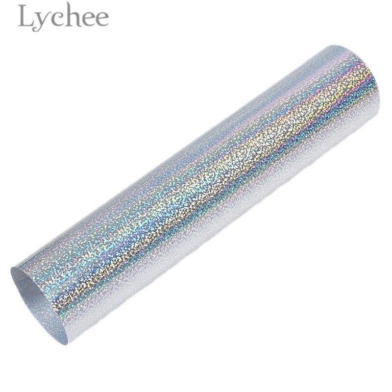 Lychee 30x25 см лазерный термопресс передачи винил блеск ПВХ декоративные принадлежности для футболки одежда - Цвет: 1