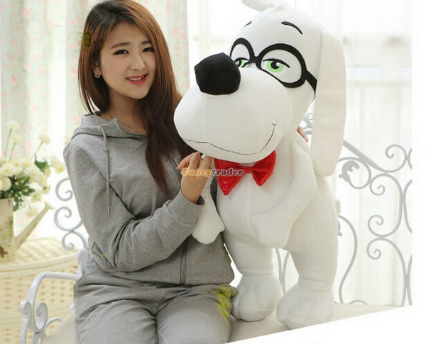 Fancytrader Lovely Dog Toy 31'' / 80 cm Giant Plush Stuffed Glasses Dog, great birthday gift, x'mas gift, free shipping FT90120 fancytrader new style fashion banana toy 31 80cm big plush stuffed cute banana birthday gift kids gift free shipping ft90528