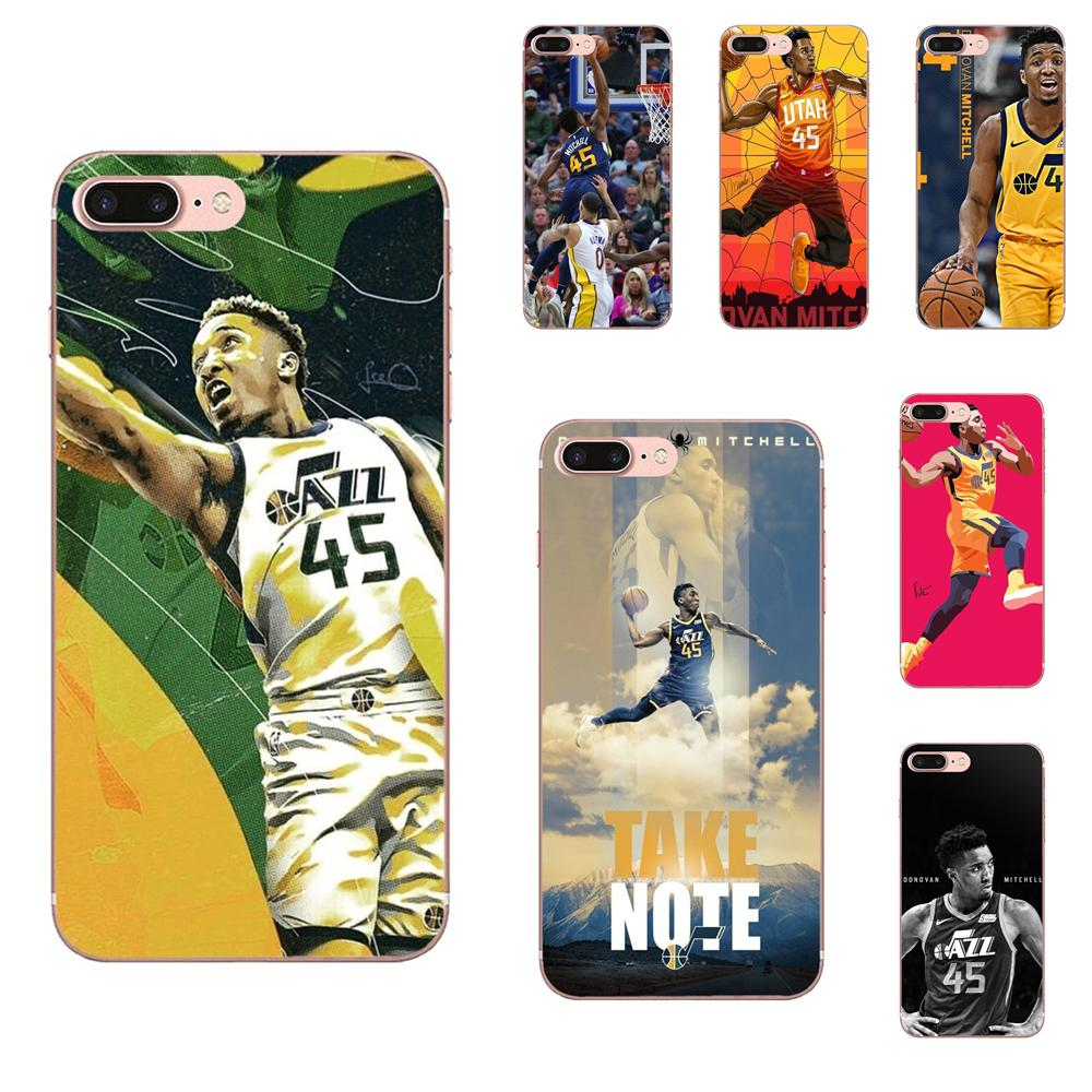 Soft Rubber Shell Phone Case Basketballer Donovan Mitchell <font><b>45</b></font> For <font><b>Xiaomi</b></font> <font><b>Redmi</b></font> Note 2 3 3S 4 4A 4X <font><b>5</b></font> 5A 6 <font><b>6A</b></font> Pro Plus image