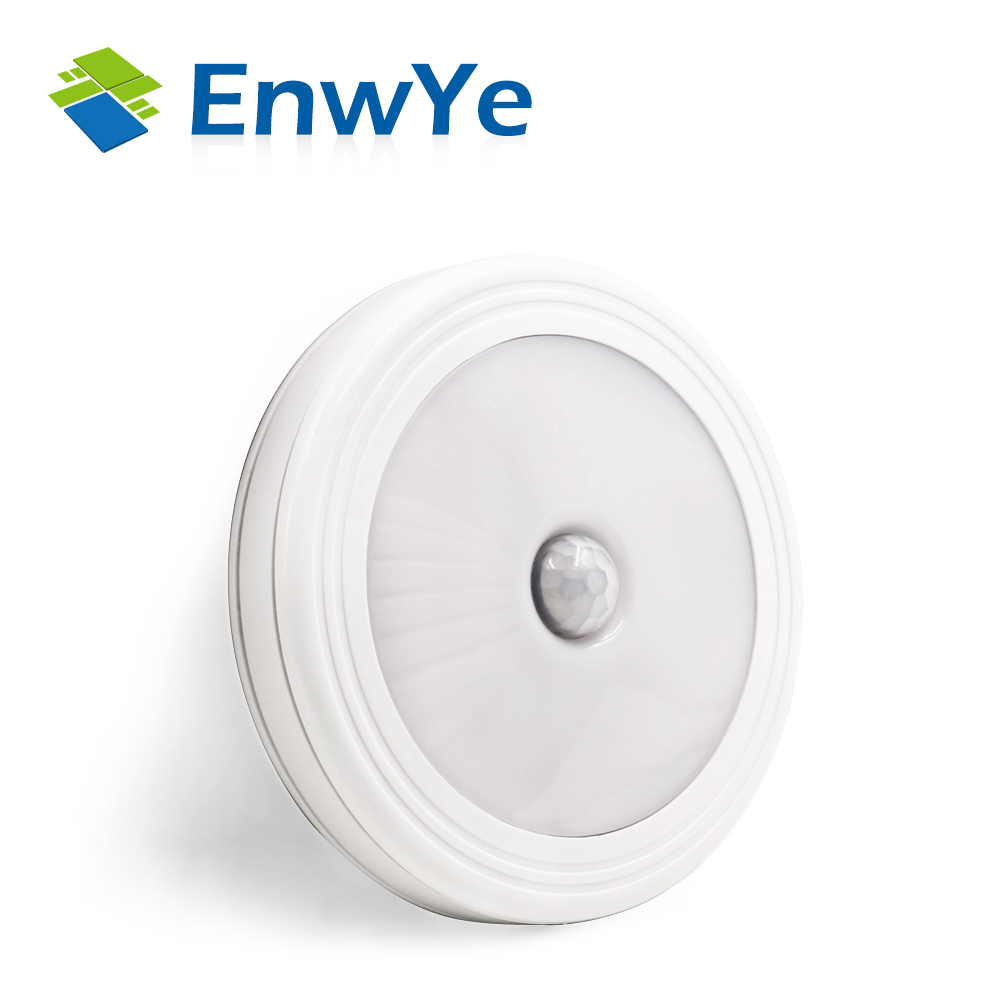 EnwYe Magnetic Infrared IR Bright Motion Sensor Activated LED Wall Night Light Auto On/Off Battery Operated for Hallway Pathway motion sensor led night light smart human body induction nightlight auto on off battery operated hallway pathway toilet lamps