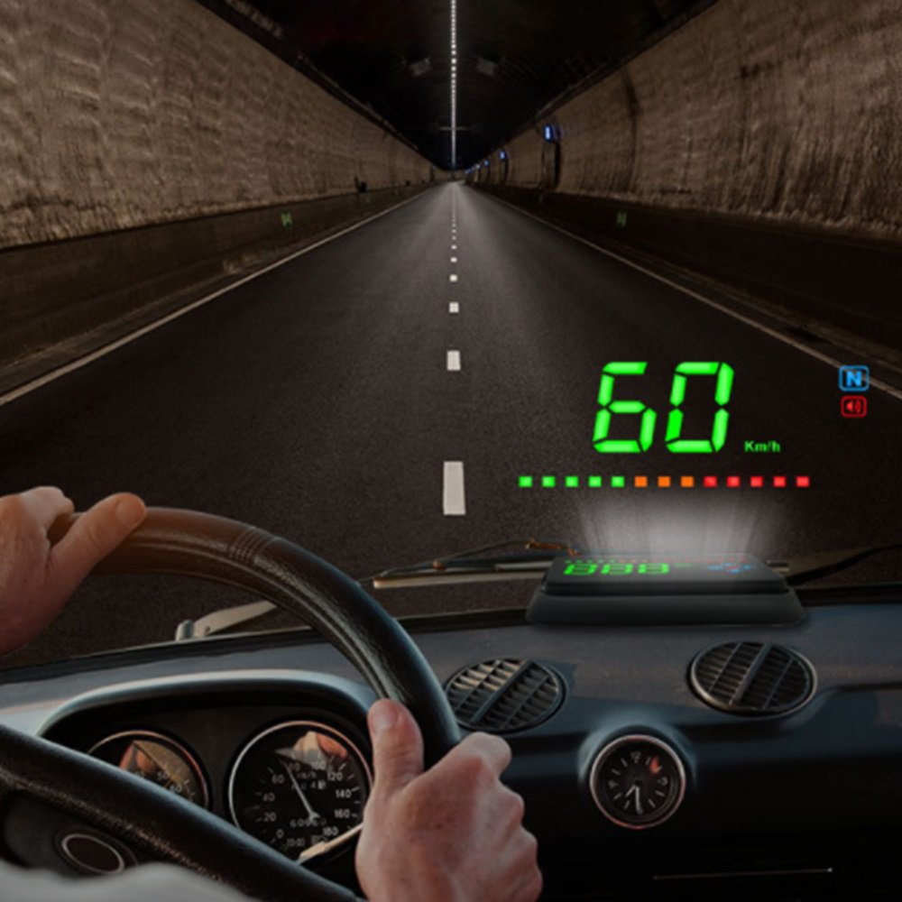 A2 Car Head Up Display HD Screen Display GPS Speed Warning System Fuel Consumption Car Display Device