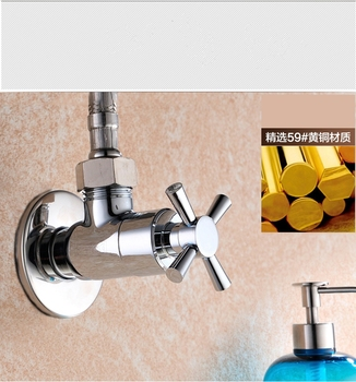 Bathroom toilet Solid brass Pure copper high quality chrome Angle valve Quality assurance Hot and cold water valve Stop valve