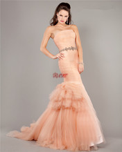 free shipping crystal belt robe de soiree 2014 new fashion romantic sexy long mermaid vestido de noiva bridal gown wedding dress матрас lineaflex sognio 120x190