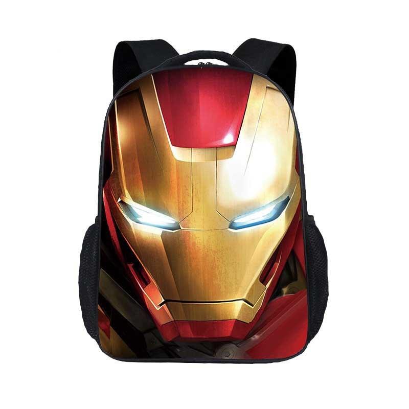 New Fashion Children's Cartoon Bag Iron Man Printing Personality Primary School Bag Kindergarten Shoulder Boy Girl Backpack