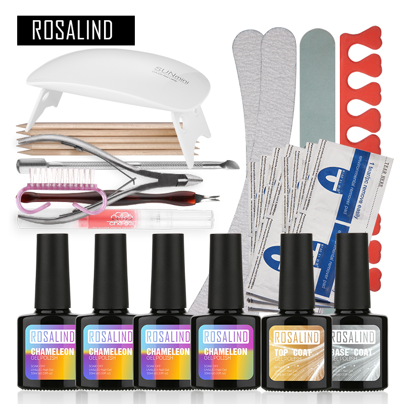 Aliexpress Com Buy Nail Art Salon Supplies Kit Tool Uv: Aliexpress.com : Buy Rosalind Temperature Changing UV Gel