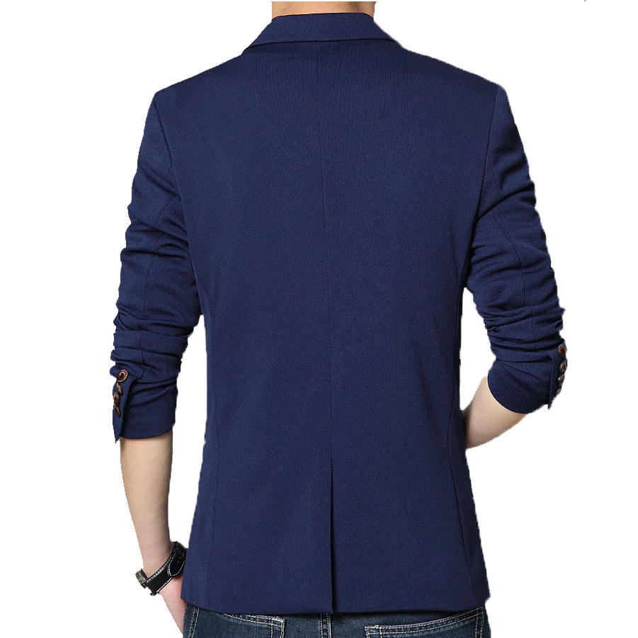 2020 Autumn New Men's Blazer Coat Business Casual Fashion Blue Slim Fit Suit Male Brand Clothing 2