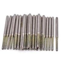 Toolfit 30pcs Diamond Drilling Drill Bit For Dremel Accessories 0 8 1 0 1 2 1