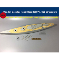 1/350 Scale Wooden Deck for HobbyBoss 86507 French Navy Strasbourg Ship Model Kits with Chain