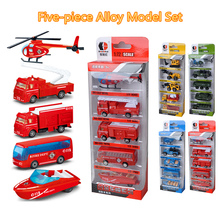Model Simulation-Vehicle Die-Cast Police-Engineering Alloy Inertial Children's ABS 1:48