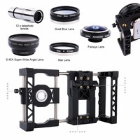 Deals Mount Holder Stabilizer Grip Cage System+Telescope+Macro+Wide Angle+Fisheye Lens+ Filter for Samsung S8 S7 Edge S5 A3 J/Z