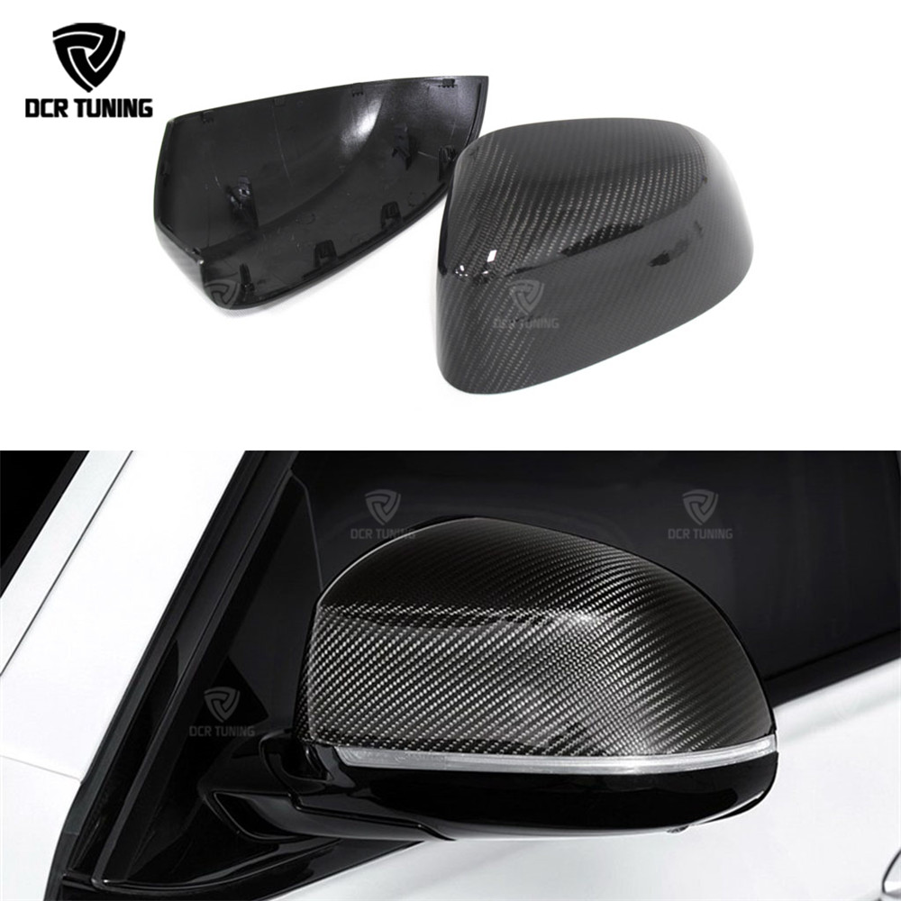 1 : 1 Replacement Style For BMW X3 F25 X4 F26 X5 F15 X6 F16 Carbon Fiber Rear Side View Mirror Cover 2014 - 2017 carbon fiber mirror rearview cover 2pcs for bmw x6 f16 2015
