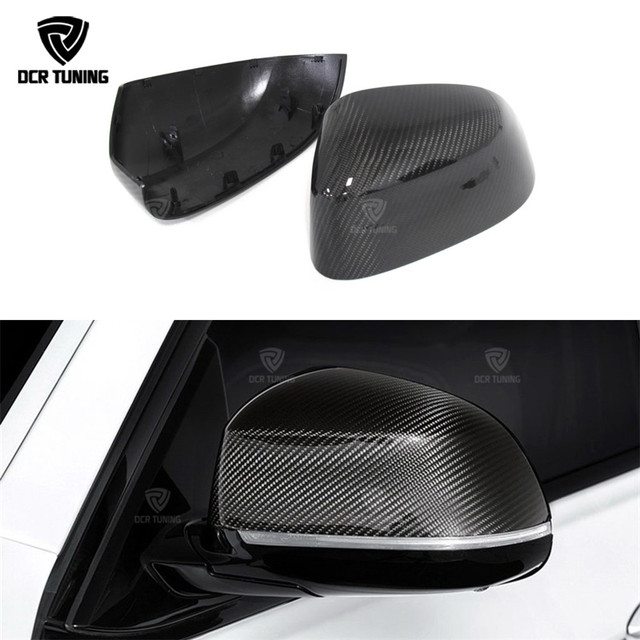 1 : 1 Replacement Style For BMW X3 F25 X4 F26 X5 F15 X6 F16 Carbon Fiber Rear Side View Mirror Cover 2014 - 2017