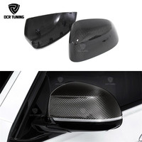 1 : 1 Replacement Style For BMW X3 F25 X4 F26 X5 F15 X6 F16 Carbon Fiber Rear Side View Mirror Cover 2014 2017
