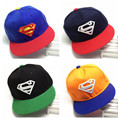 2016 New Brand Children Superman Snapback Hats Baseball Cap Boys And Girls Kids Fashion Hip Hop Caps Baby Casquette Hat