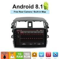 Android 8,1 автомобилей Радио мультимедийный плеер для Toyota Corolla E140/150 2008 2009 2010 2011 2012 2013 стерео gps навигации 2 din