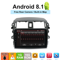 Android 8,1 автомобиль радио мультимедиа плеер для Защитные чехлы для сидений, сшитые специально для Toyota Corolla E140/150 2008 2009 2010 2011 2012 2013 стерео gps нави