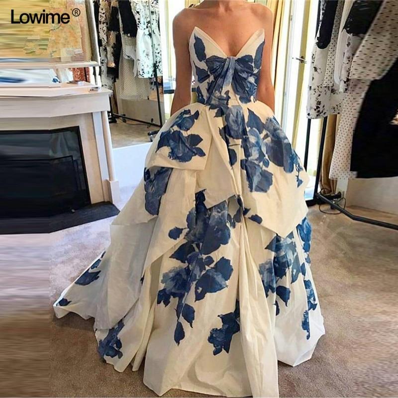 Sexy Arabic Long Ball Gown Formal Evening Prom Party Dress Kaftan Dubai Abiye Turkish Evening Gowns Dresses Abendkleider 2018