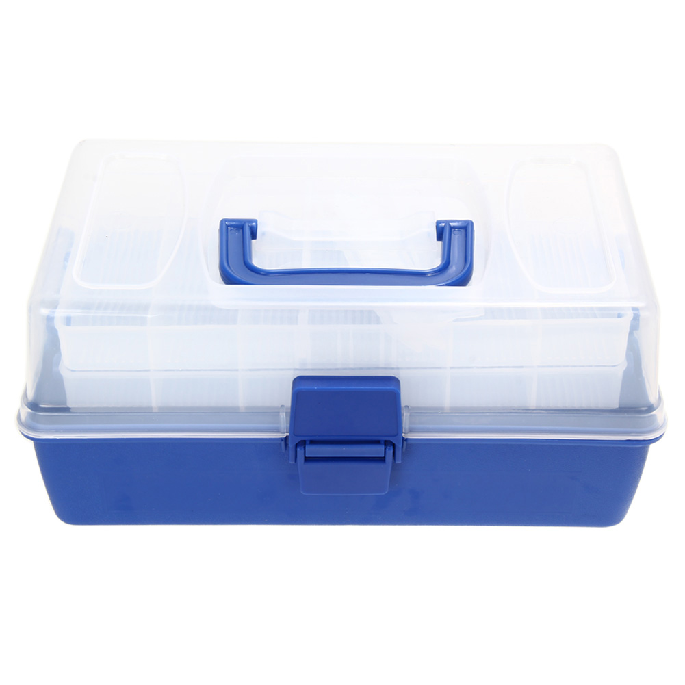 Fishing Tackle <font><b>Boxes</b></font> With 7 Bars Open Double Fishing Lure Bait Hook Storage Transparent Fishing Case Waterproof Fishing Tool