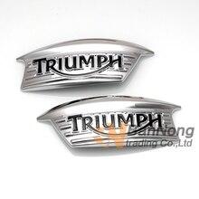 Мотоцикл 3D ABS Ретро Бензобак герба топлива Письмо значок наклейка Стикеры для Triumph 750 T100 T120