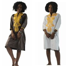 Womens Clothing Accessories - World Apparel - H&D Dashiki Africa Cotton Dresses Top Bazin Dress For African Women Traditional Private African Custom Africa Embroidery Dress 9
