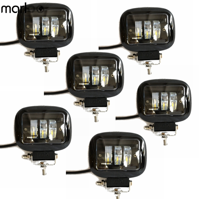 Marloo 30W Led Work light with Driving Fog Lamp Pattern 12V 24V Auto Square Led Driving Light Car Offroad External Fog Light