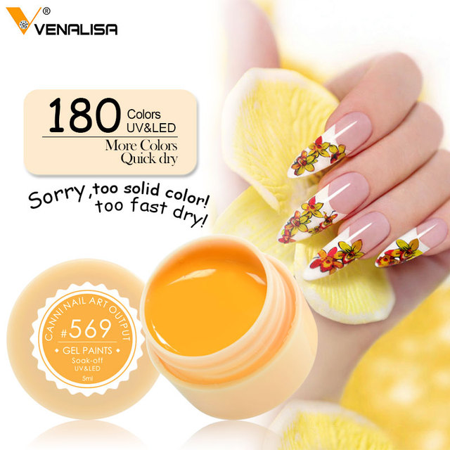 Venalisa UV Gel New 2019 Nail Art Tips Design Manicure 180 Color UV LED Soak Off DIY Paint Gel Ink UV Gel Nail Polishes Lacquer  3