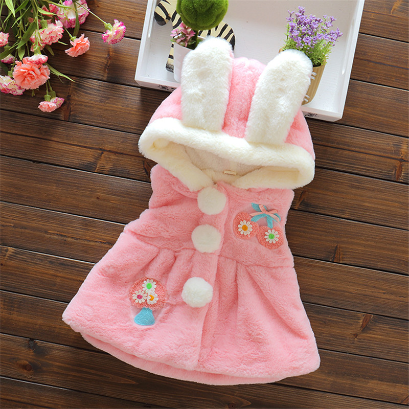 BibiCola Winter Baby Princess Girls Vest Hooded Clothes Children Clothing Outerwear Coats Kids Jackets Baby Girl Warm Waistcoat baby boy outerwear warm fleece vest kids hooded jacket coats autumn children clothes windproof hoody vest baby girl waistcoats