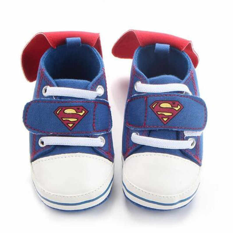 Newest Baby Boys Girls Sports Shoes Cool Superman/Batman Newborn Infant Toddle Sneaker Cotton Soft Bebe First Walker Kids Shoes