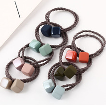 Simple Popular Square Hair Rope Scrunchie Women Girls Elastic Hair Rubber Bands Gum Accessories For Women Girls Ties Headdress цена в Москве и Питере