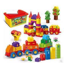 6532, 136 piezas de Matematicas Tren numero grande bloques construccion