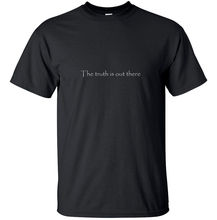 Shirt Design Short Crew Neck The Truth Is Out There X Files Tv Black Geek Game White Red Gift Best Friend Shirts For Men