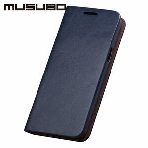 Image 5 - Musubo lüks deri kılıf kapak Samsung Galaxy S20 S10 S9 artı S8 artı S7 kenar not 10 9 muhafaza flip cüzdan kart yuvası çapa