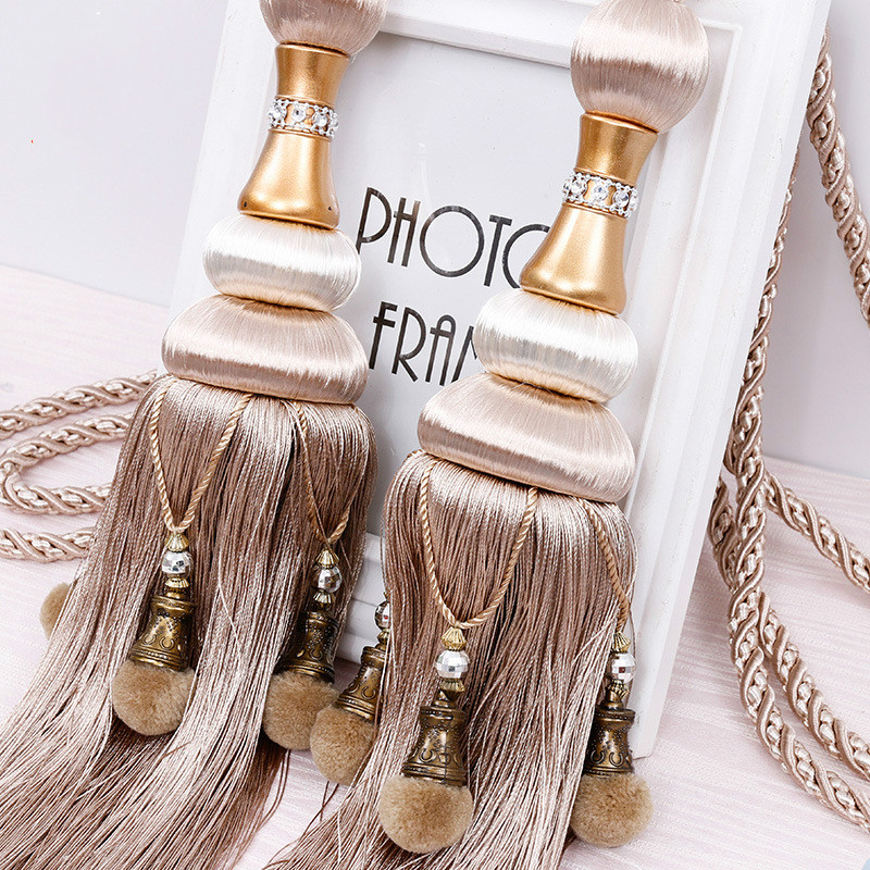 European Style Curtain Hanging Ball Rope Curtain Tiebacks Hanging Tassel Bandages Brushes Curtain Accessories