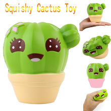 2018 Hot Sale Squash Anti-stress Toy Cactus Cream Scented Squishy Slow Rising Squeeze Strap Kids Christmas Toy squishy ijsje S(China)
