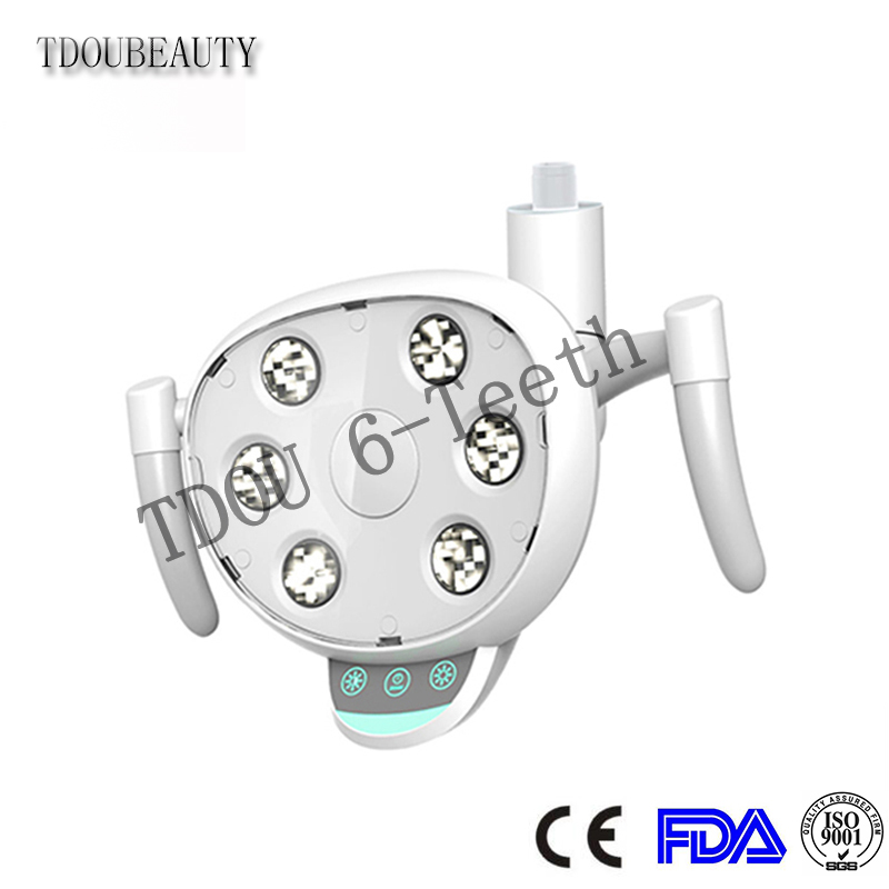 COXO CX249-23 LED Shadowless Dental Lamp With 6 High Power LED Bulbs Touch Button And Sensor Dual Control Switch Adjustable 22MM